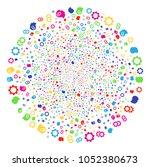 multicolored intellect gears... | Shutterstock . vector #1052380673