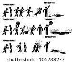 icon man fatality 1 di 3 | Shutterstock . vector #105238277