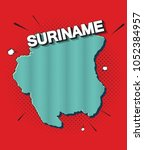 pop art map of suriname   Shutterstock .eps vector #1052384957