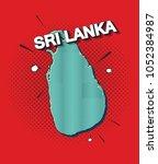 pop art map of sri lanka   Shutterstock .eps vector #1052384987