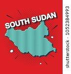 pop art map of south sudan   Shutterstock .eps vector #1052384993