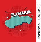 pop art map of slovakia   Shutterstock .eps vector #1052385017