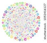 colorful football ball... | Shutterstock .eps vector #1052416127