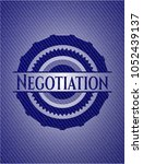 negotiation emblem with jean... | Shutterstock .eps vector #1052439137