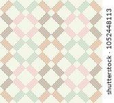seamless geometric pattern. the ... | Shutterstock .eps vector #1052448113
