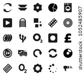 flat vector icon set  ... | Shutterstock .eps vector #1052485907