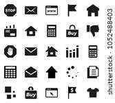 flat vector icon set  ... | Shutterstock .eps vector #1052488403
