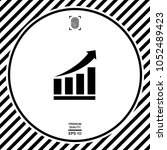 growing bars graphic icon with... | Shutterstock .eps vector #1052489423