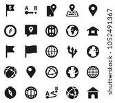 flat vector icon set   compass... | Shutterstock .eps vector #1052491367