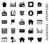 flat vector icon set   flag... | Shutterstock .eps vector #1052491583