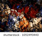 abstract retro grunge... | Shutterstock . vector #1052493443