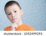 idea thinking adorable boy... | Shutterstock . vector #1052499293