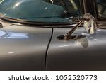 the part of an old car in retro ... | Shutterstock . vector #1052520773