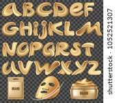 calligraphy font with... | Shutterstock .eps vector #1052521307