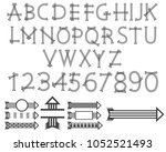 black three lines arrow... | Shutterstock .eps vector #1052521493