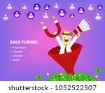 illustration vector of employee ... | Shutterstock .eps vector #1052522507