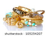 Beautiful Golden Bracelets And...