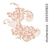 lace flower element | Shutterstock .eps vector #1052545823