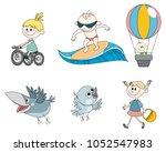 vector illustration of set of... | Shutterstock .eps vector #1052547983