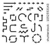 black arrows set. set of icons... | Shutterstock .eps vector #1052553143