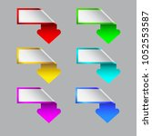 the curve set of arrows on the... | Shutterstock .eps vector #1052553587