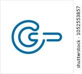 letter g modern shape logo... | Shutterstock .eps vector #1052553857