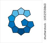 letter g modern shape logo... | Shutterstock .eps vector #1052553863