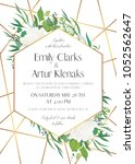 wedding invite  save the date... | Shutterstock .eps vector #1052562647