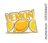 illustration of yellow lemon ...   Shutterstock . vector #1052568647