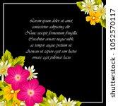 elegant frame of flowers on a...   Shutterstock .eps vector #1052570117