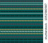 pattern design with tribal... | Shutterstock .eps vector #1052580587