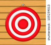 red target on wooden wall ... | Shutterstock .eps vector #105259013