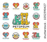pet cat and dog vector domestic ... | Shutterstock .eps vector #1052590427