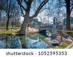 bridge of the sirenette. bridge ... | Shutterstock . vector #1052595353