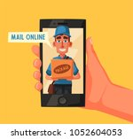 fast and free delivery. vector... | Shutterstock .eps vector #1052604053