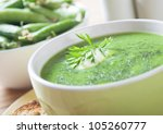 Creamy Soup With Green Peas ...