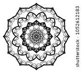 ornamental circle pattern.... | Shutterstock .eps vector #1052612183