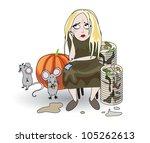 jeune fille blonde,cheveux blonds,mariée,cendrillon,nettoyage,entraîneur,assiettes sales,disparaissent,plats,trouble,robe,conte de fées,conte de fées,fiancé,alimentaire