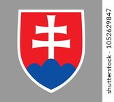 coat of arms slovakia. isolated ... | Shutterstock .eps vector #1052629847