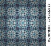 blue  violet and white filigree ... | Shutterstock .eps vector #1052632913