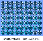 stopwatch icons set in flat... | Shutterstock .eps vector #1052636543
