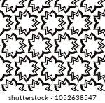 decorative seamless geometric... | Shutterstock .eps vector #1052638547