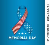 vector happy memorial day card. ... | Shutterstock .eps vector #1052652767