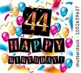 44 years anniversary vector... | Shutterstock .eps vector #1052659637