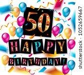 50 years anniversary vector... | Shutterstock .eps vector #1052659667
