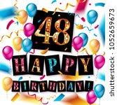 48 years anniversary vector... | Shutterstock .eps vector #1052659673