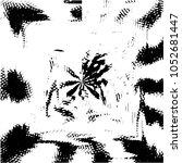grunge halftone black and white ... | Shutterstock .eps vector #1052681447