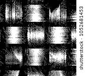 grunge halftone black and white ... | Shutterstock .eps vector #1052681453
