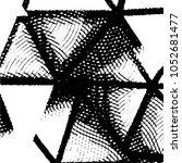 grunge halftone black and white ... | Shutterstock .eps vector #1052681477