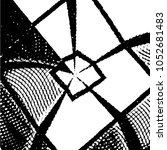 grunge halftone black and white ... | Shutterstock .eps vector #1052681483